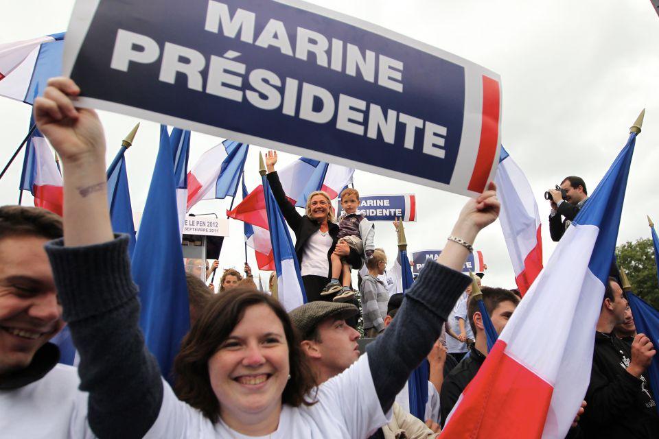 Anhänger von Le Pen