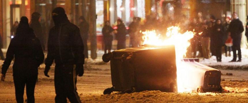 Linksextreme Randale in Leipzig (2014): Nach Krawallen nicht eine Anklage Foto: dpa