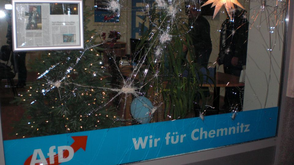 Angegriffenes AfD-Büro