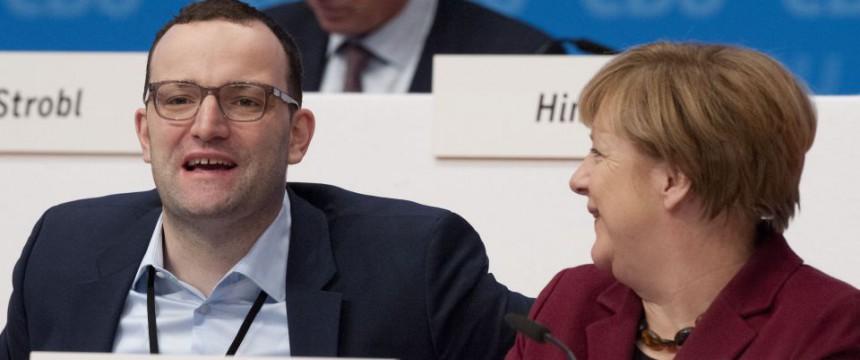 Jens Spahn auf dem Bundesparteitag der CDU in Karlsruhe Foto: picture alliance/dpa