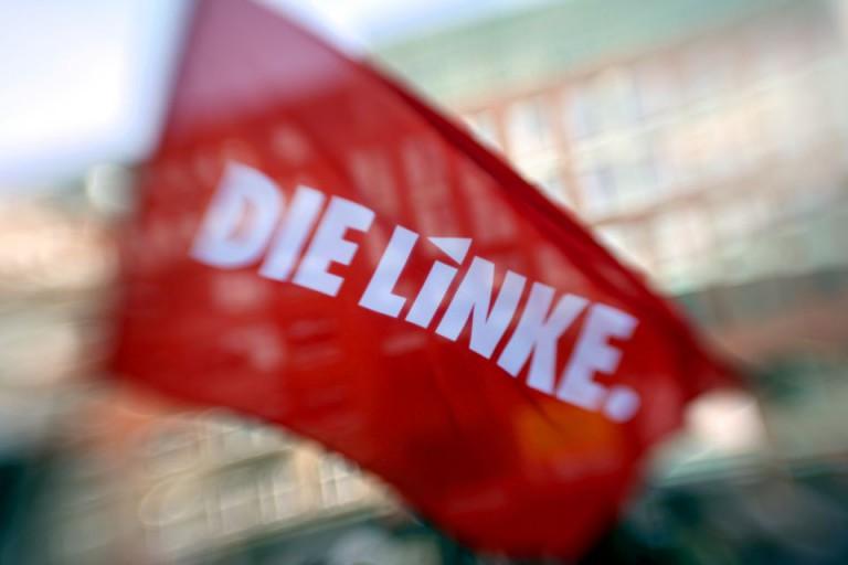 Fahne der Linkspartei (Symbolbild)