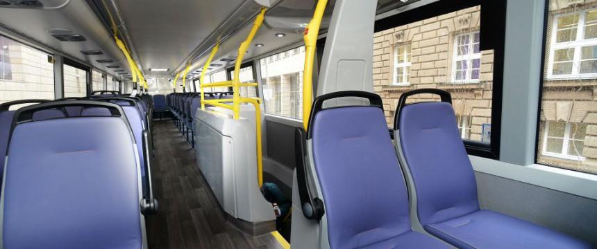 Abteil eines Busses (Symbolbild): Angst vor Übergriffen Foto:  Picture-Alliance/Tagesspiegel