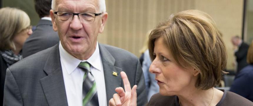 Die Ministerpräsidenten Windfried Kretschmann (Grüne) und Malu Dreyer (SPD): Kuschen vor den Mächtigen Foto:  picture alliance / dpa