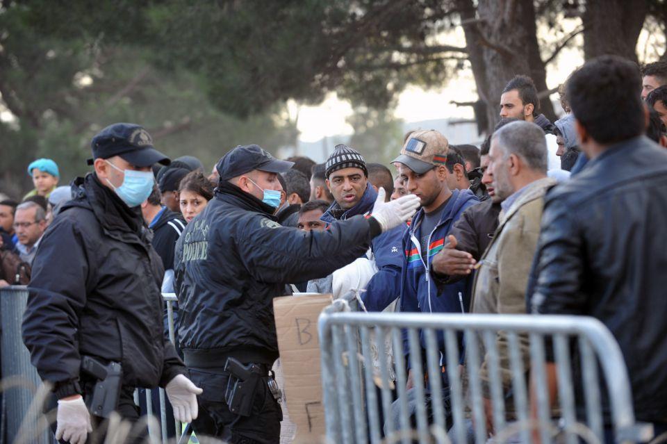 Asylsuchende an der griechischen Grenze