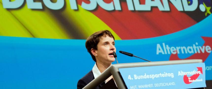 AfD-Chefin Frauke Petry: Ihre Partei legt zu Foto: dpa
