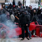 Linksextremisten in Hamburg Foto:  picture alliance