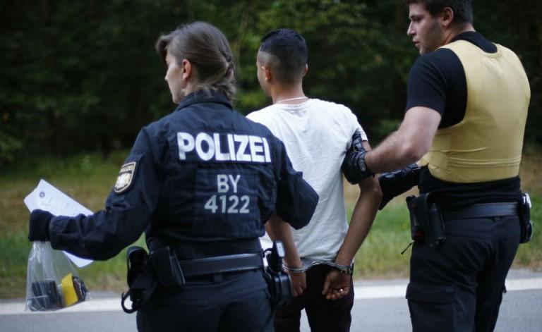 Festgenommener Asylbewerber