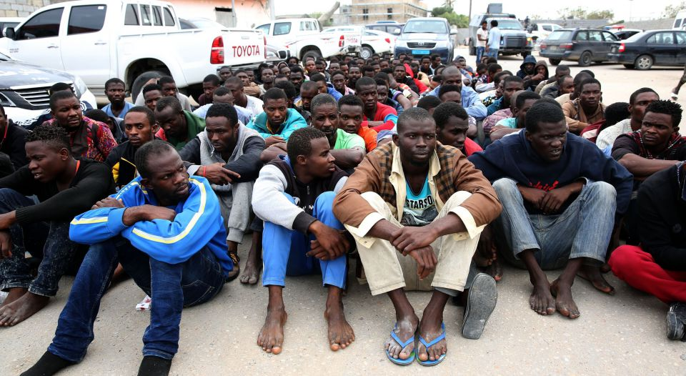 Illegale Einwanderer in Libyen