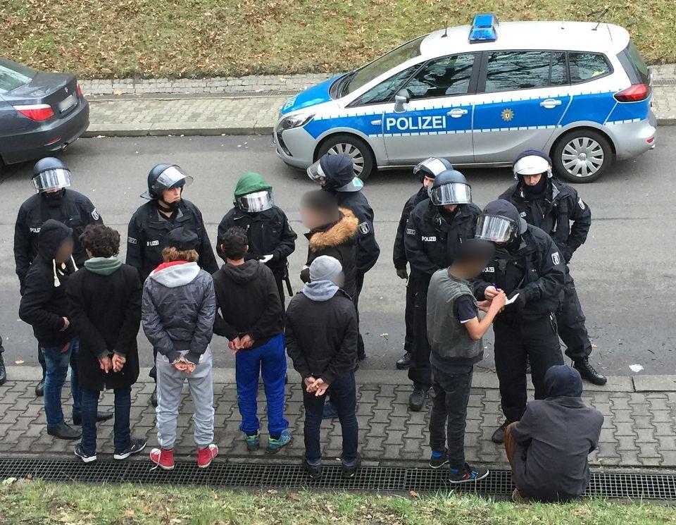 Polizeieinsatz in Tempelhofer Unterkunft
