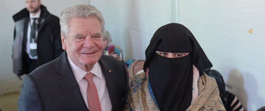 Joachim Gauck in Jordanien: Es reicht! Foto: dpa