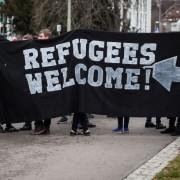 Demonstration der Linkspartei: Von der Macht der Wörter Foto: dpa