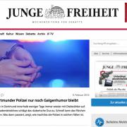 Webseite der JF: Es geht aufwärts Foto: Screenshot/JF