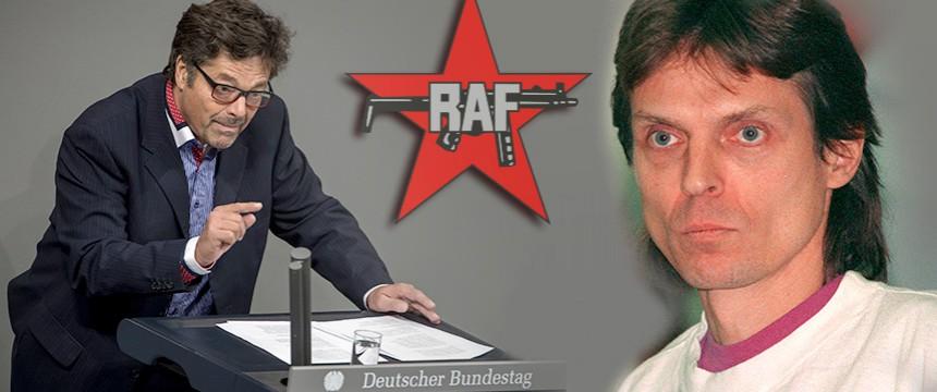 Diether Dehm (links) und Christian Klar Montage: JF; Fotos: dpa; RAF-Logo: wikimedia