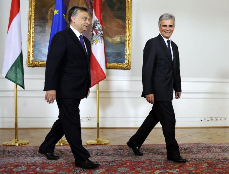 Orban und Faymann (Archiv)