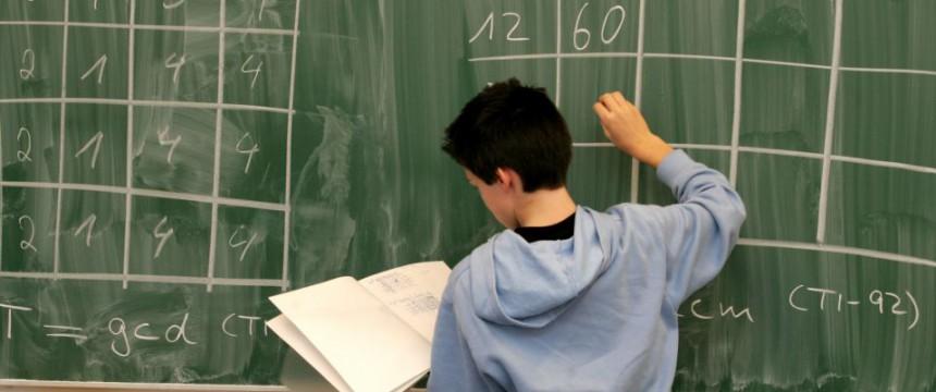 Mathe-Unterricht (Symbolbild): Bildungsniveau sinkt Foto:  picture alliance/AP Images