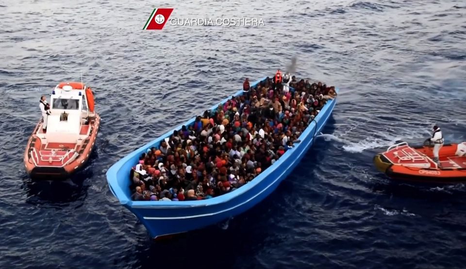 Italienische Küstenwache rettet Asylsuchende (Symbolfoto)