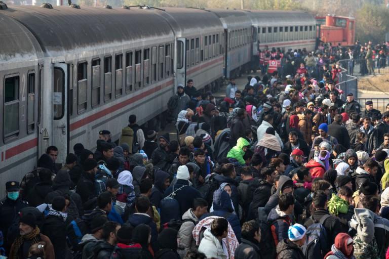 Asylsuchende auf dem Weg nach Deutschland (2015)