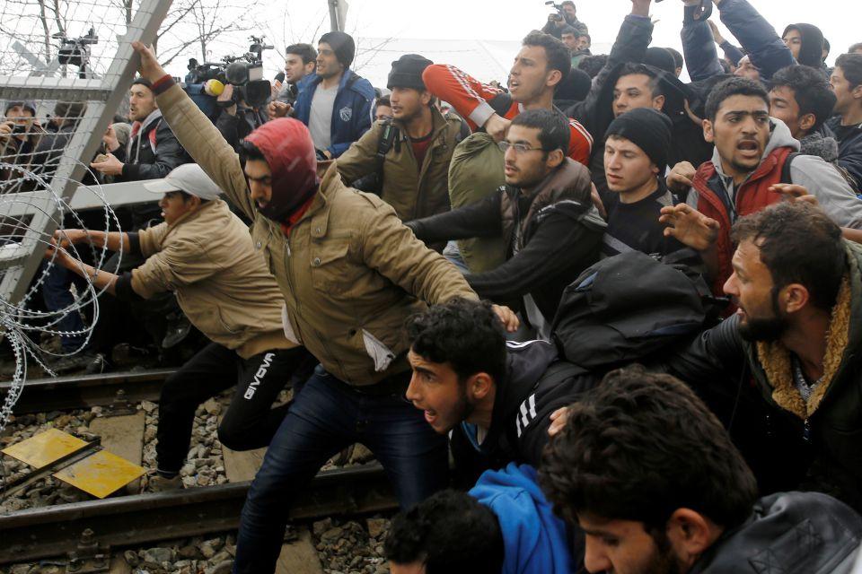 Asylsuchende in Idomeni