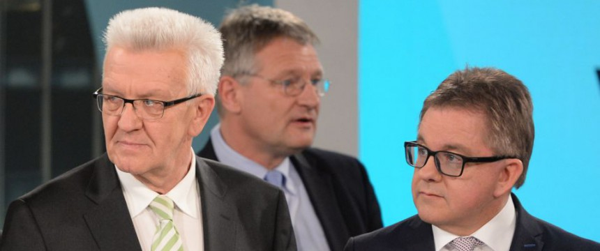 Kretschmann (l) und Wolf (r) beim TV-Duell Foto:  picture alliance/dpa