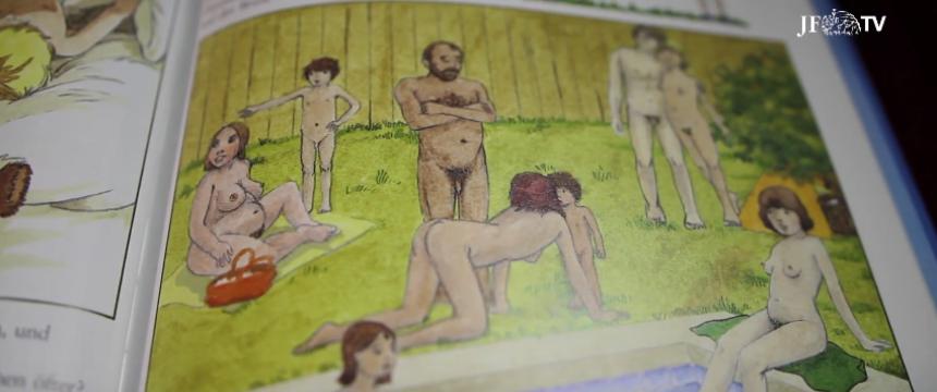 Ausschnitt aus einem Buch zur Frühsexualisierung Foto: JF-TV