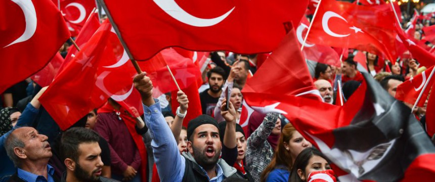 Türkische Demonstration in Mannheim (2015) Foto: picture alliance/dpa