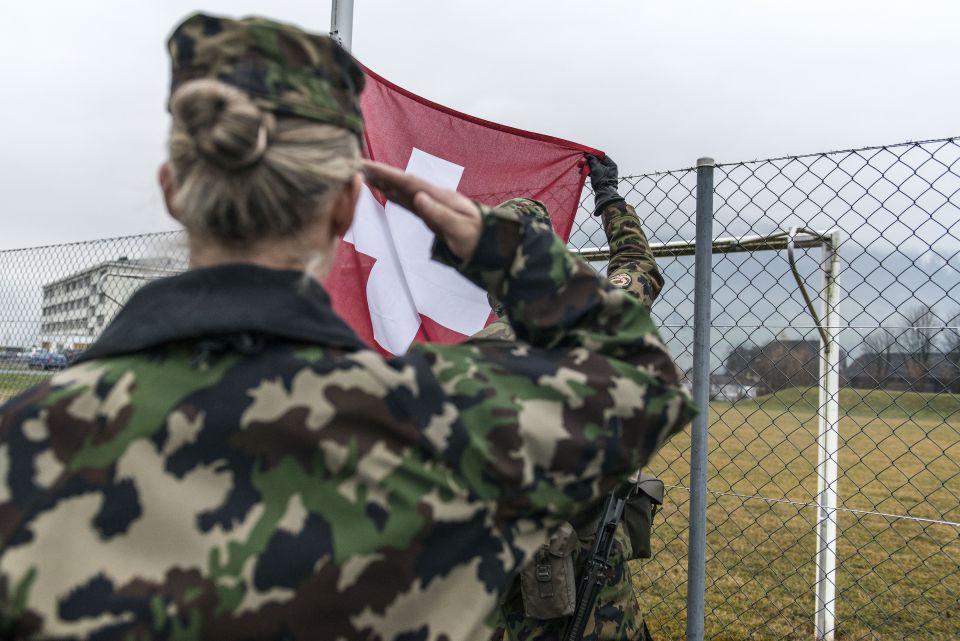 Schweizer Soldatin (Symbolfoto)