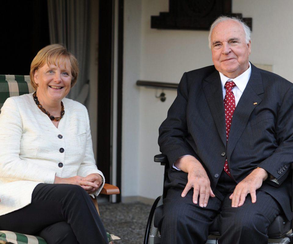 Kanzlerin und Altkanzler (beide CDU)