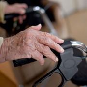 Eine Frau schiebt einen Rollator: Die Rente ist nur für Abgeordnete sicher Foto: picture alliance / ZB