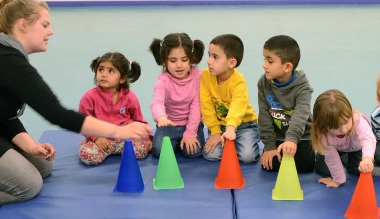 Kinder mit Einwanderungshintergrund