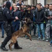 Brüssler Polizist im Bezirk Molenbeek: Rechtsfreie Räume in Parallelgesellschaften als Rückzugsgebiet Foto: picture alliance / dpa