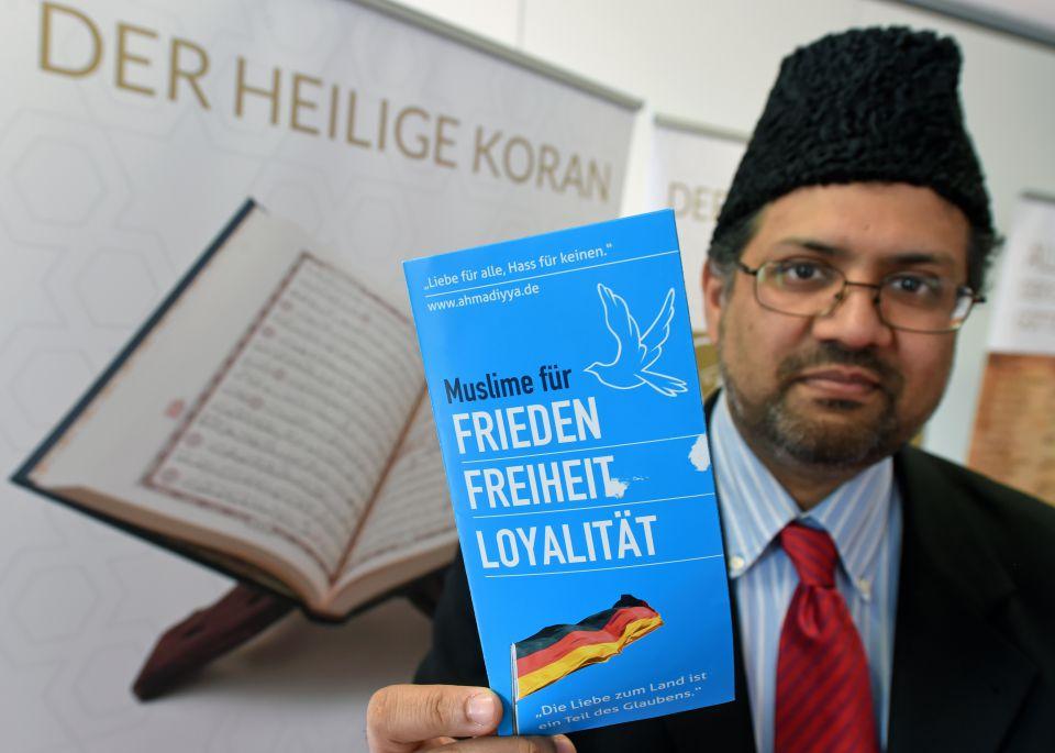 Der Sprecher der Muslimischen Ahmadiyya-Gemeinde, Dawood Majok