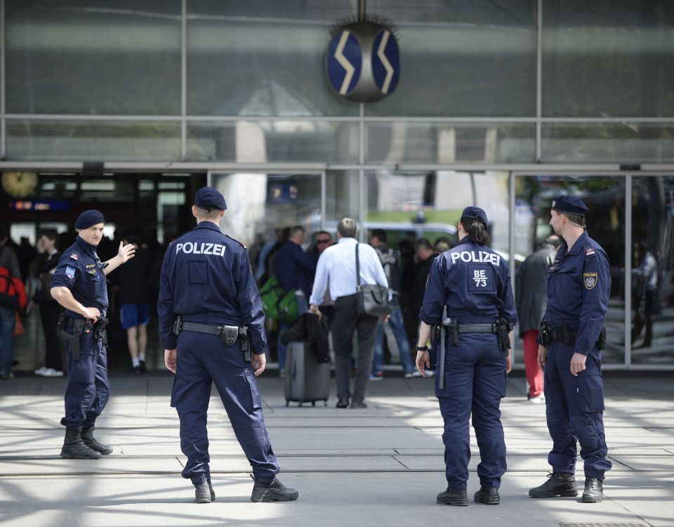 Polizei am Praterstern