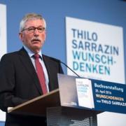 Thilo Sarrazin bei seiner Buchvorstellung in Berlin Foto: picture alliance/dpa