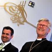 Imam Benjamin Idriz mit Landesbischof Heinrich Bedford-Strohm: Unfähig, die Zeichen an der Wand zu lesen Foto: picture alliance / dpa