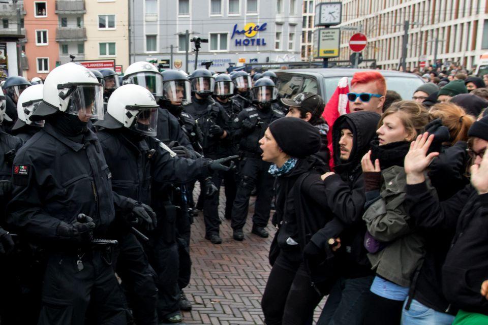 Linke Demo in Nordrhein-Westfalen (Symbolbild)