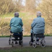 Zwei ältere Damen: Deutsche sollen immer länger arbeiten Foto: dpa