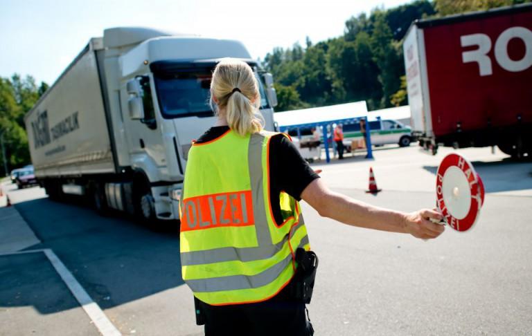 Grenzkontrolle bei Passau