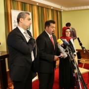 Aiman Mazyek (m.): Abbruch der Verhandlungen Foto: JF