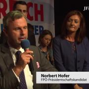 Norbert Hofer auf der FPÖ-Wahlparty Foto: JF