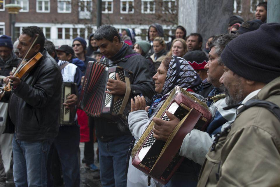 Zigeuner-Demonstration in Oslo