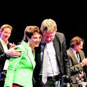 AfD-Politiker Frauke Petry und Jörg Meuthen: So innig sind die beiden längst nicht mehr Foto: JF