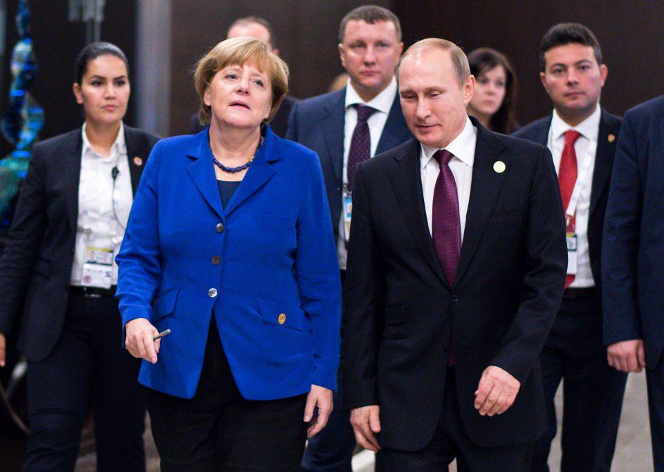 Merkel und Putin (2015)