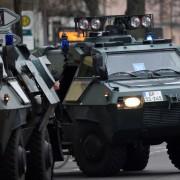 Fahrzeuge der Bundespolizei: Volksfeste im Visier Foto: dpa