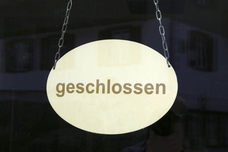Geschlossen-Schild (Symbolfoto)