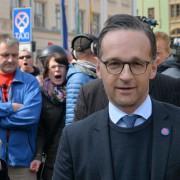 Bundesjustizminister Heiko Maas begegnet in Sachsen Kritikern: Es gibt Gegenstimmen Foto: picture alliance / dpa