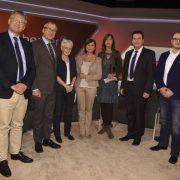 AfD-Politiker Jörg Meuthen (links) bei Talkmasterin Sandra Maischberger: Als Konservativer kann man nur verlieren Foto: picture alliance / SvenSimon