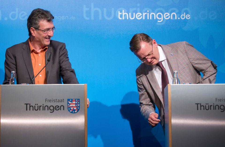 Dieter Lauinger und Bodo Ramelow