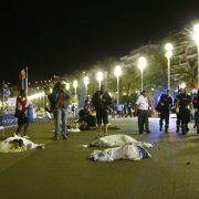 Nizza: Leichen auf der Promenade nach dem Terroranschlag Foto: dpa
