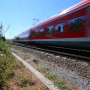 Bahn: An dieser Stelle hielt der Zug während der Axt-Attacke in Würzburg Foto: dpa
