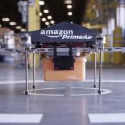 Mini-Drohne, mit der der Internet-Händler Amazon Waren ausliefern will Foto: picture alliance/dpa